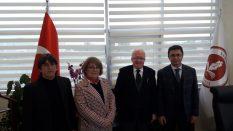 Atakum İlçe Başkanı Haluk Köksoy ve yönetim kurulu üyelerinden Rektörümüze Ziyaret