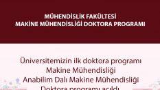 Samsun Üniversitesi Makine Mühendisliği Doktora Programı Açıldı