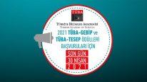 TÜBA-GEBİP ve TESEP Ödülleri için 2021 Yılı Başvuruları Başladı
