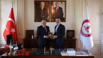 Suat Kılıç, Samsun Üniversitesi Rektörü Prof. Dr. Mahmut Aydın'ı ziyaret etti.