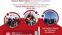 Samsun Roket Takımı'ndan Uluslararası Başarı